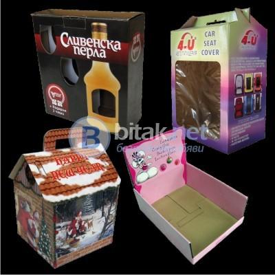 кашони, кутии, каширане, опаковки от велпапе и картон