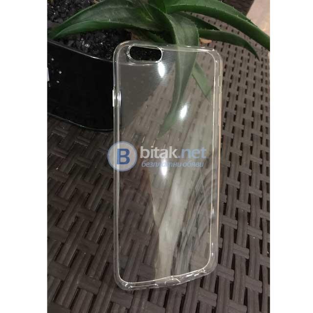 Силиконов калъф кейс за iPhone 6/6s Plus прозрачен гръб тънък