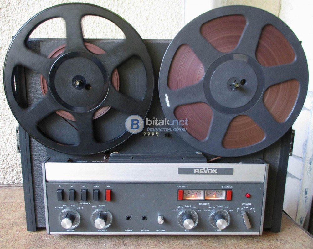 REVOX A-77 – Студийния вариант,2 писти,3 мотора, 19 и 38 см High Speed.