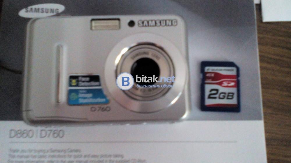 Продавам фотоапарат Samsung D760