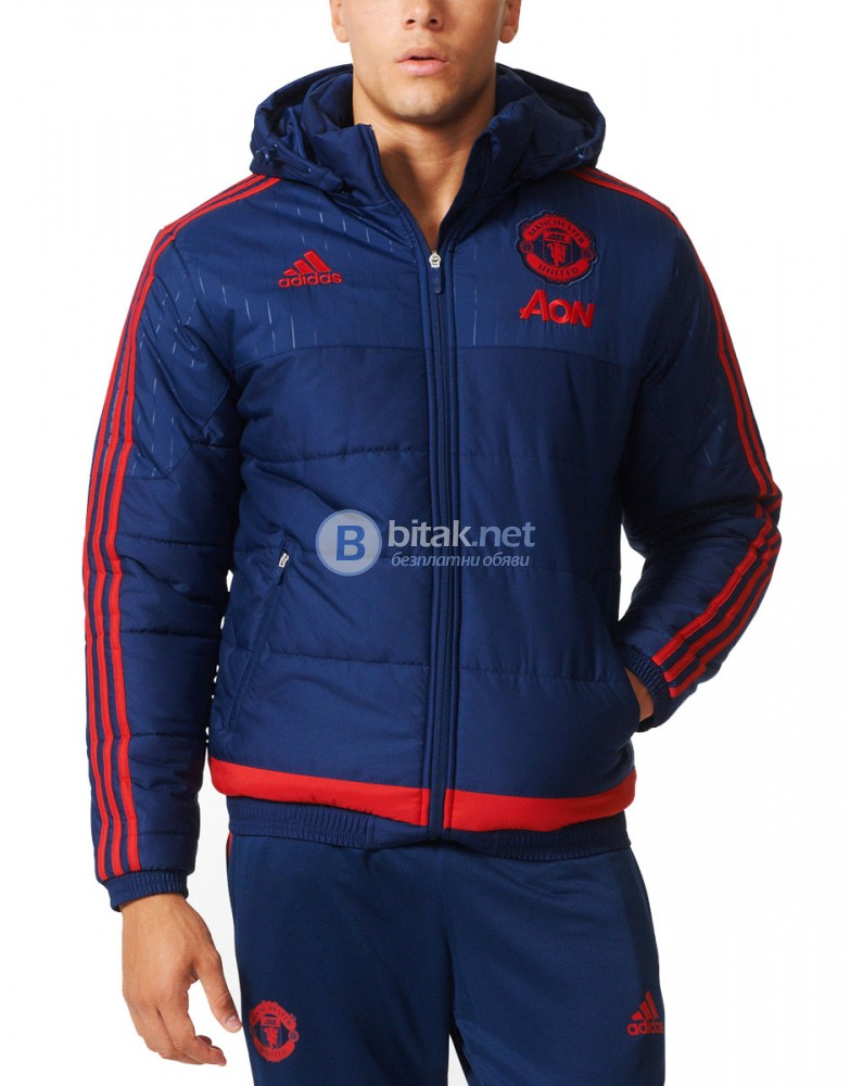 ADIDAS Machester United FC Padded Jacket МЪЖКО ЗИМНО ЯКЕ