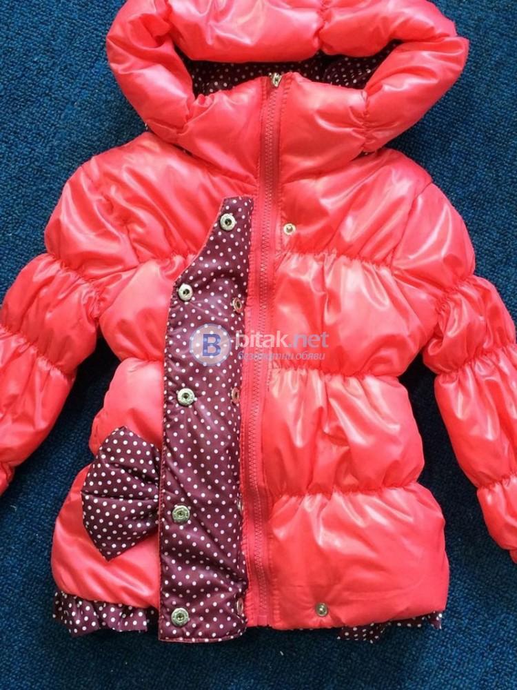 Ново Детско зимно яке с качулка гугла за момиче шушляково яке 6-7 год