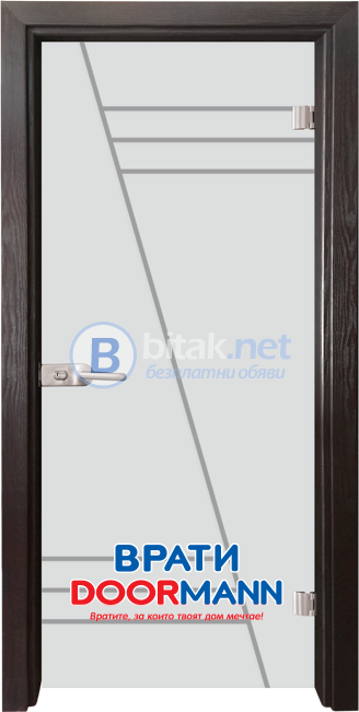 Стъклена врата модел Basic/Gravur 13-4