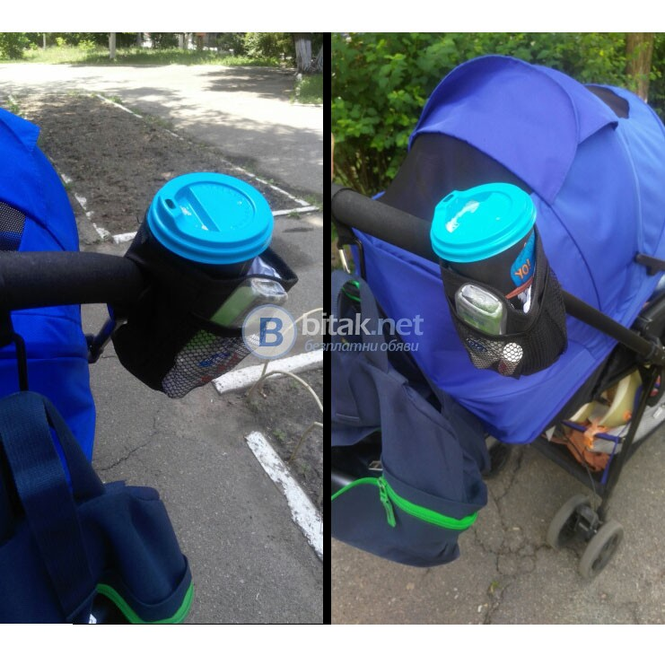 Държач поставка стойка за бутилка шише чаша за детска количка колело