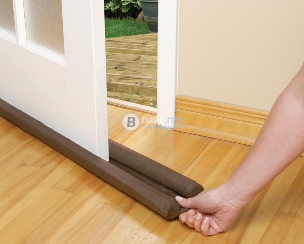 Двоен стопер за врата предпазител протектор изолатор за под врата ново