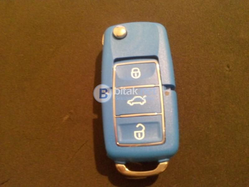 Кутийка със заготовка за ключ за Ауди цвят черен
