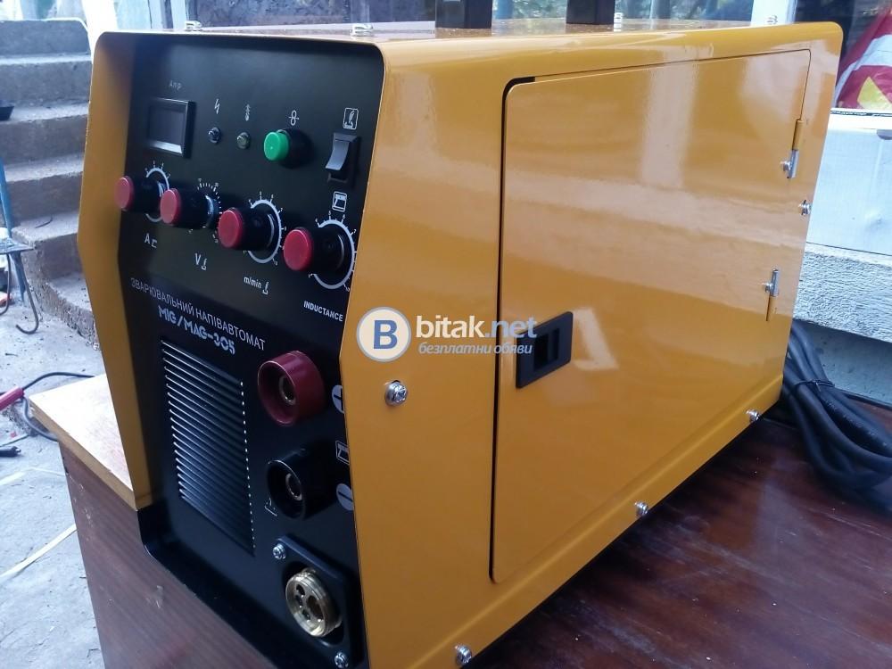 ПРОФЕСИОНАЛНО Телоподаващо Цо 2 / Co 2 + Инверторен Електрожен 305 Ампера НОВО !