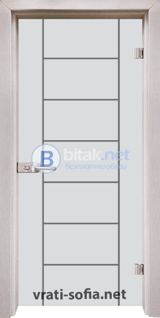 Стъклена интериорна врата Gravur G 13-6