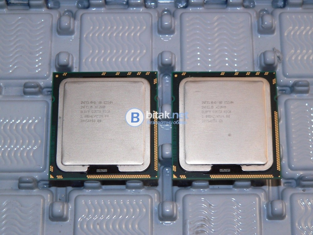 Два процесора Quad Core Xeon E5504, s.1366
