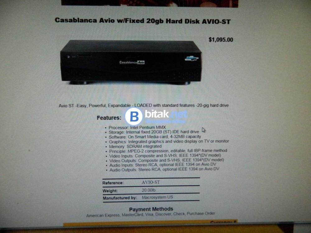 Система за видео-обработка и съхранение VHS-DVD, Video8