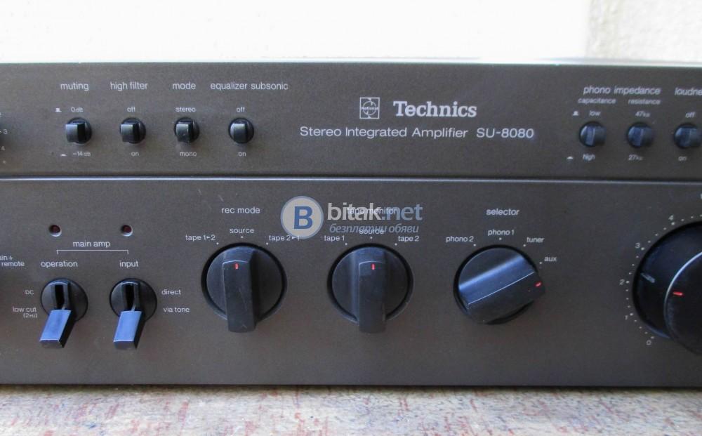 TECHNICS SU 8080 – Един от най добрите усилватели на фирмата.