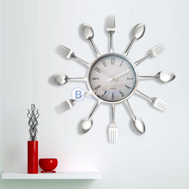Модерен кухненски стенен часовник вилици и лъжици Декор за кухня