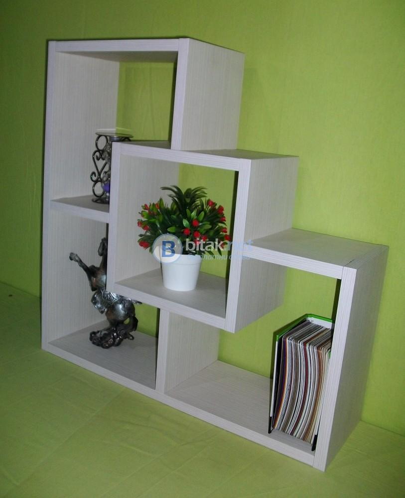 Етажерка за стена - Бяло Алпи Крем