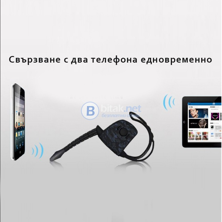 Безжична блутут слушалка хендсфри с микрофон Bluetooth handsfree