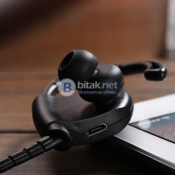 Безжична блутут слушалка хендсфри с микрофон Bluetooth handsfree