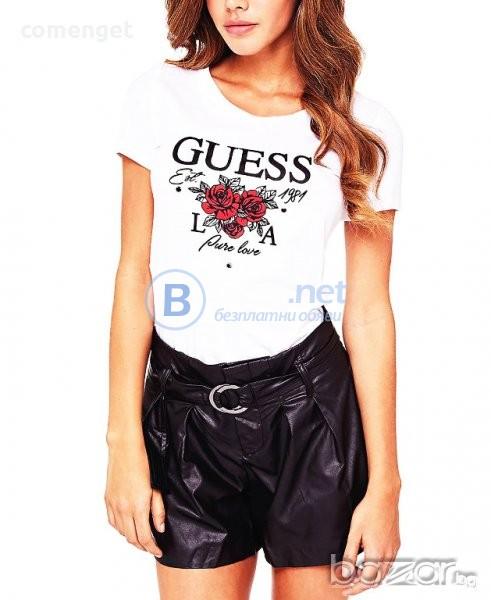 d81e31aed0e НОВО! Дамска тениска с GUESS PURE LOVE дизайн реплика! Или поръчай модел с  ТВОЯ идея!