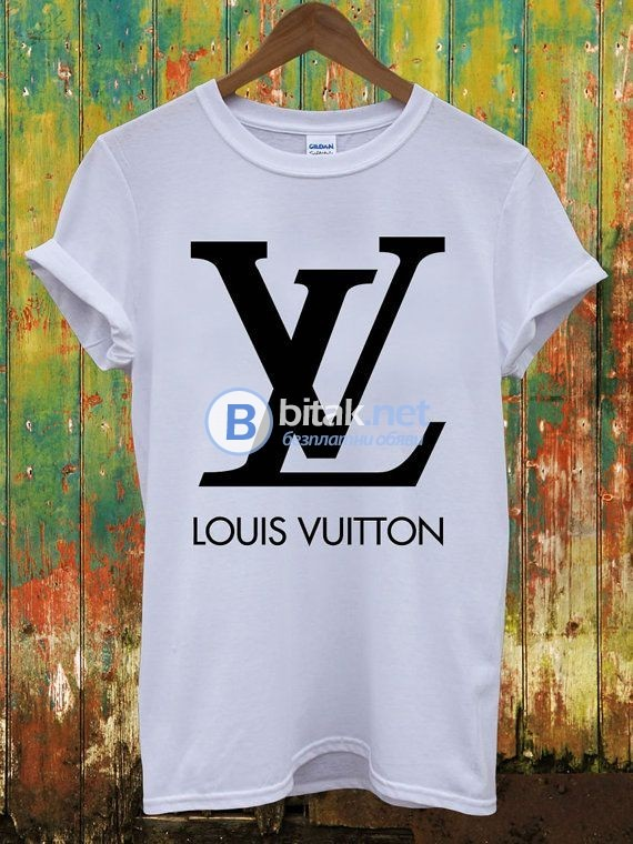 ХИТ! Мъжки тениски LOUIS VUITTON реплика принт! Поръчай модел реплика с твоя идея!