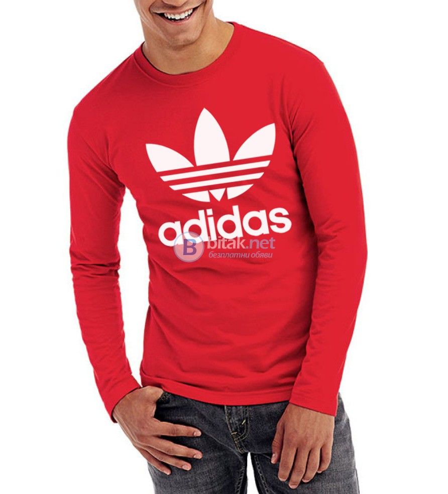ТОП МОДЕЛ! Мъжка блуза с АДИДАС / ADIDAS ORIGINALS реплика принт! Създай модел по Твой дизайн!