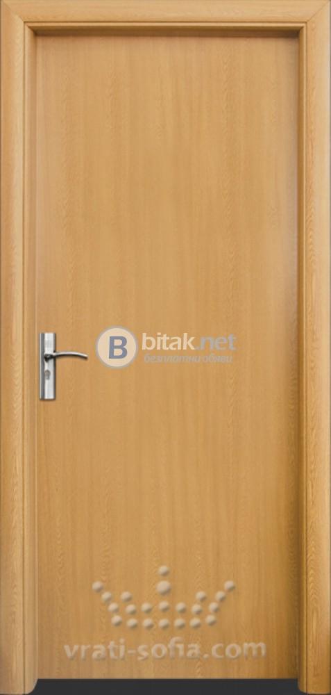 Интериорна HDF врата с код 030, цвят Светъл дъб