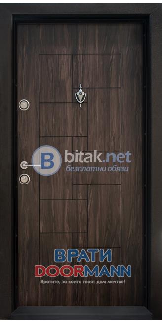 Входна блиндирана врата Т-100, цвят Африка