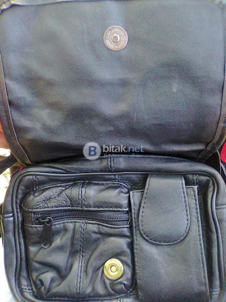 Дамска чанта естествена кожа, неизползвана