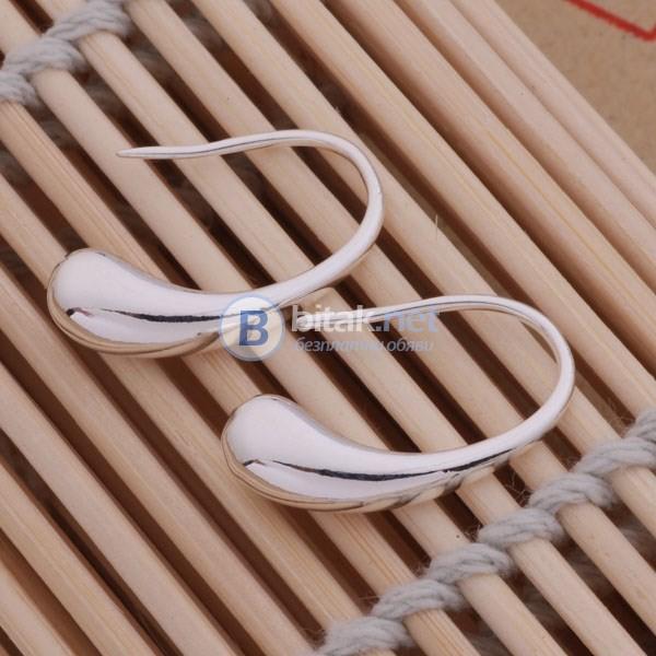 Комплект бижута Капка гривна пръстен колие обеци сребърно покритие 925 подарък за жена