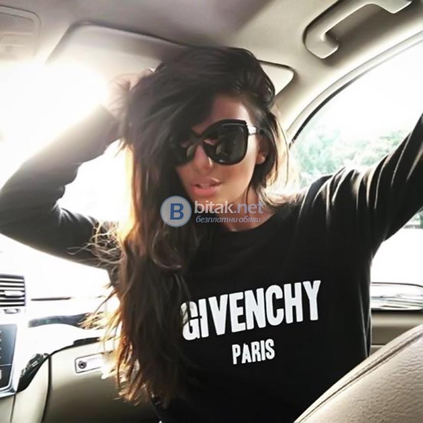 ХИТ!!! Дамски топ с GIVENCHY PARIS реплика принт! Поръчай модел с твоя снимка!