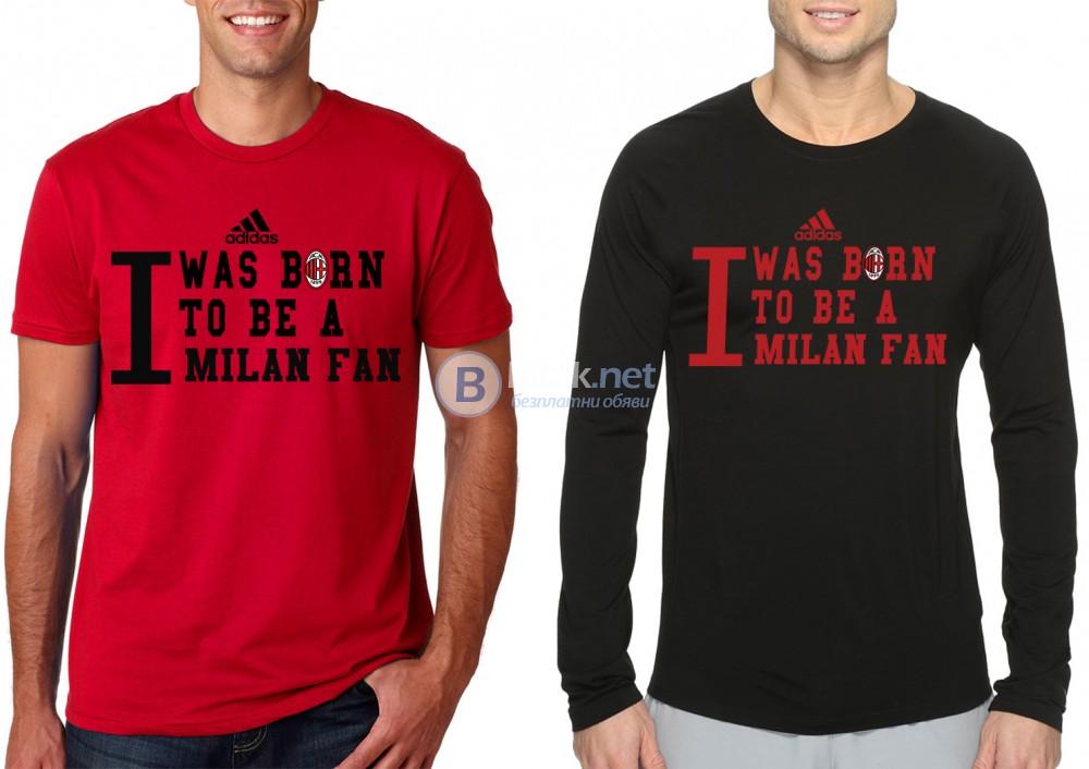 Мъжки тениски МИЛАН / AC MILAN BORN TO BE ADIDAS АДИДАС. Поръчай модел реплика с твоя снимка!