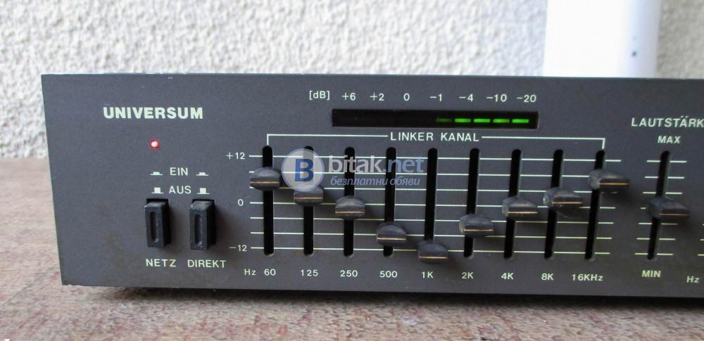 UNIVERSUM EQ-3930 – Предусилвател и еквалайзер,2 Х 9 канала.
