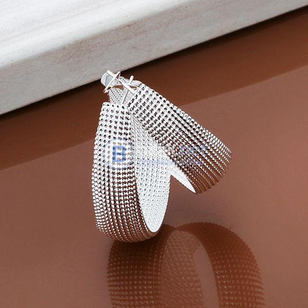 Дамски обеци полукръгове обеци халки коледен подарък за жена