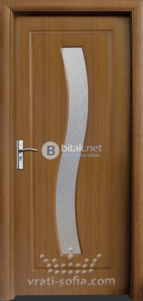 Интериорна HDF врата с код 066, цвят Златен дъб