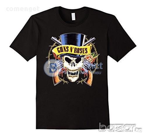 NEW! Дамски тениски с GUNS 'N' ROSES ROCK принт! Поръчай модел С Твоя Снимка или идея!