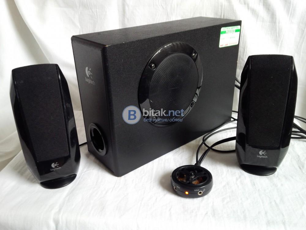 Logitech S-220 , 2.1 тонколони с активен субуфер за PC , телефон , таблет , MP3 плеър и други
