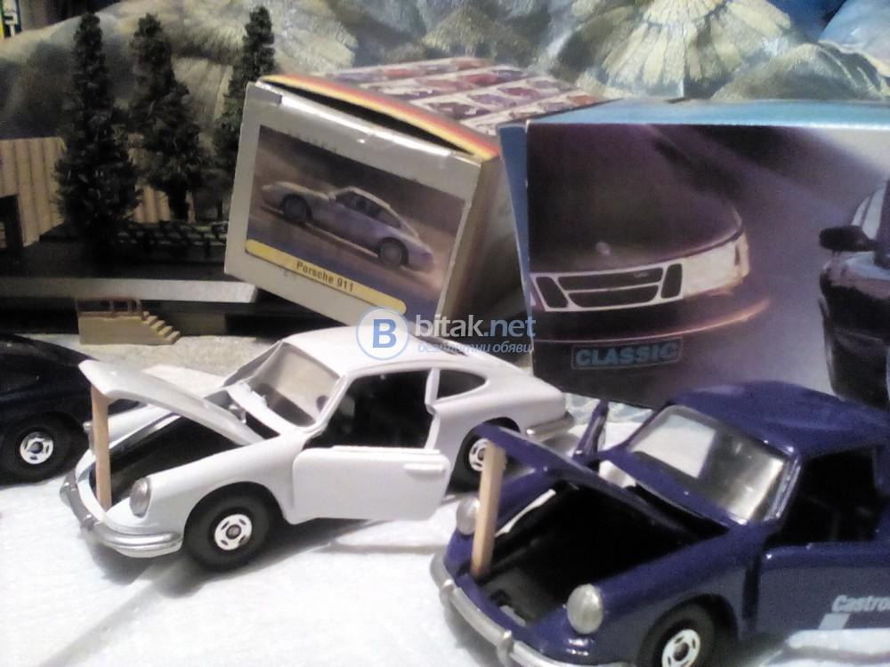 """Колекционерски ,,Porsche """" 911 в мащаб 1:42 . В оригинални кутии !"""