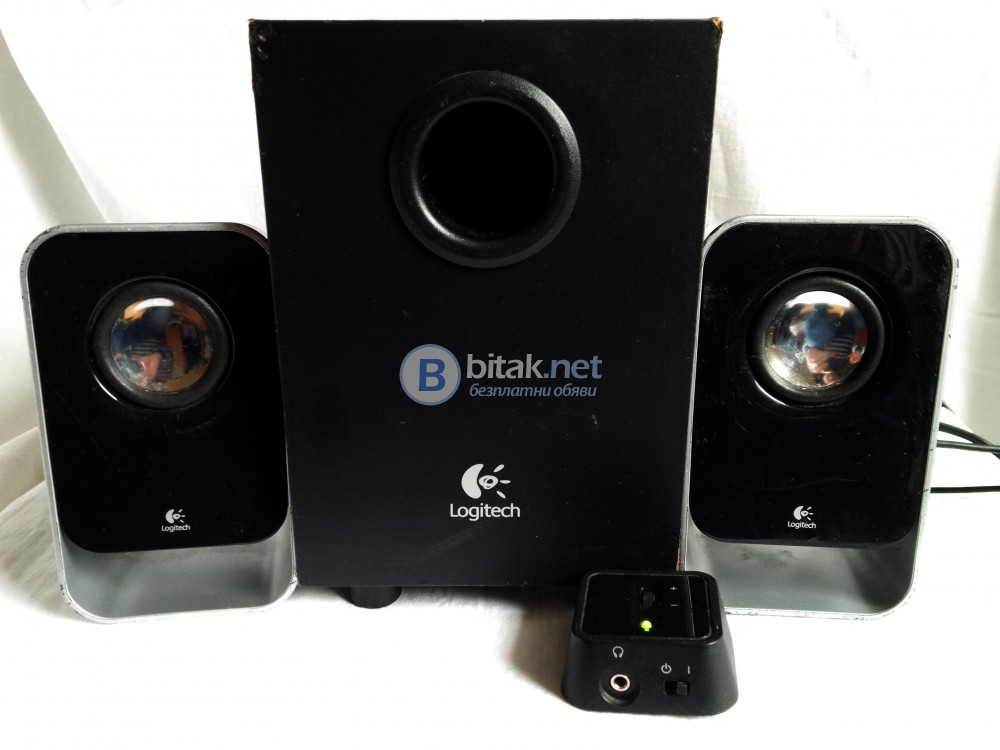 Logitech LS-21 , 2.1 тонколони с активен субуфер за PC , телефон , таблет , MP3 плеър и други