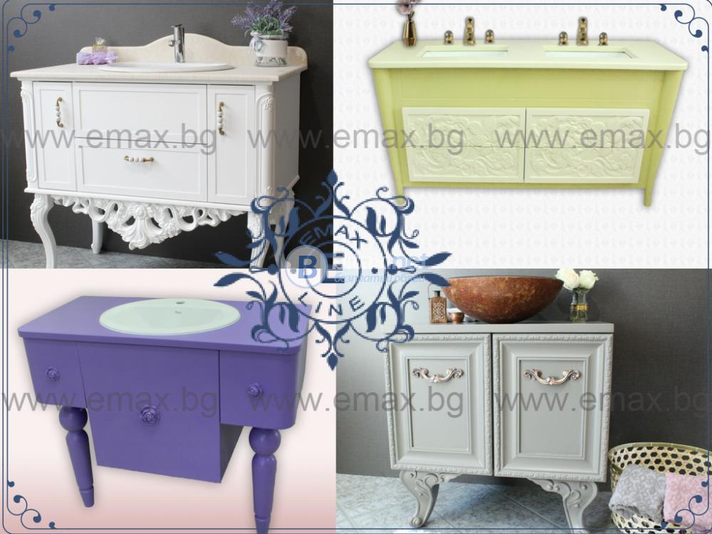Шкаф за баня долен Мебели за баня PVC луксозен