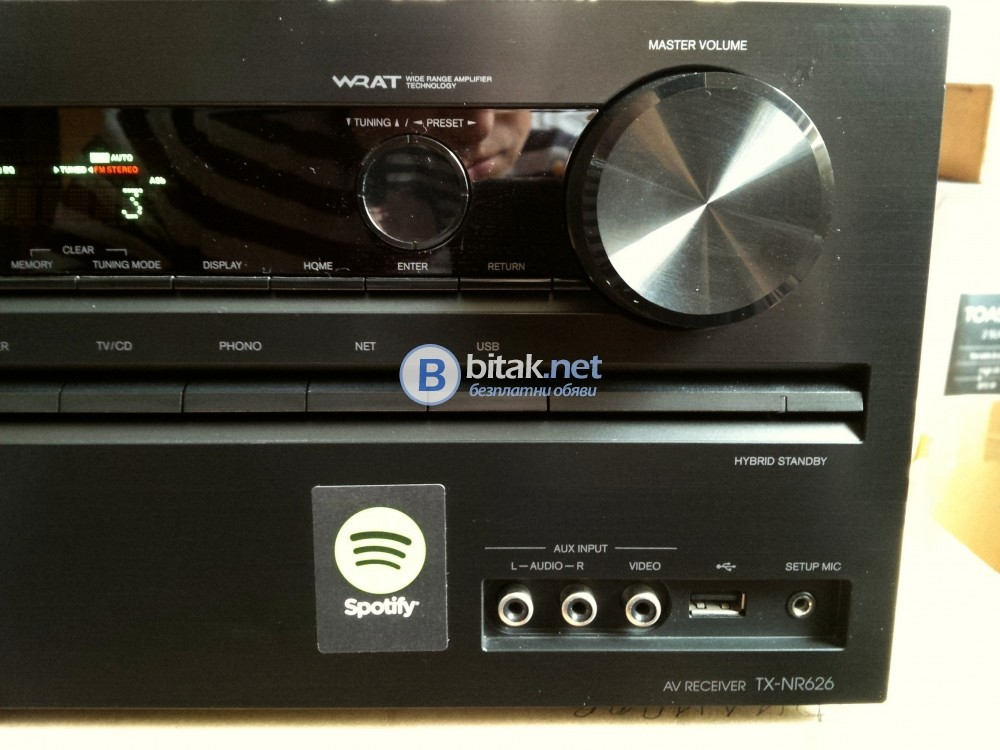 ONKYO TX-NR626, 7.2 канален ресивър, 7х160 вата, 3D, 4K, HDMI, WI-FI, Bluetooth, LAN, интернет радио