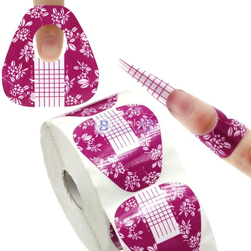 Еднократни форми за изграждане на нокти - 500 бр.
