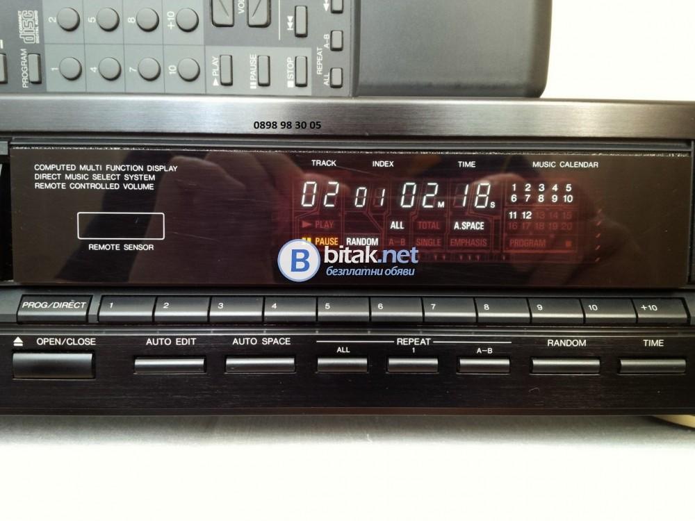 DENON DCD-820, голям модел CD плеър с 2 дака Burr-Brown PCM56P, THD: 0.004%, 102 dB, $500