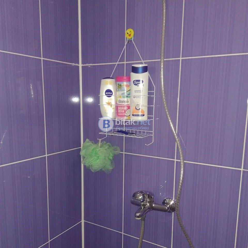 Метална Етажерка за баня с два рафта органайзер за аксесоари в банята и дома