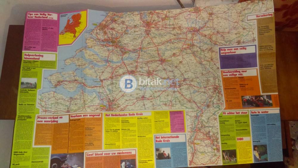 Пътна карта на Холандия.
