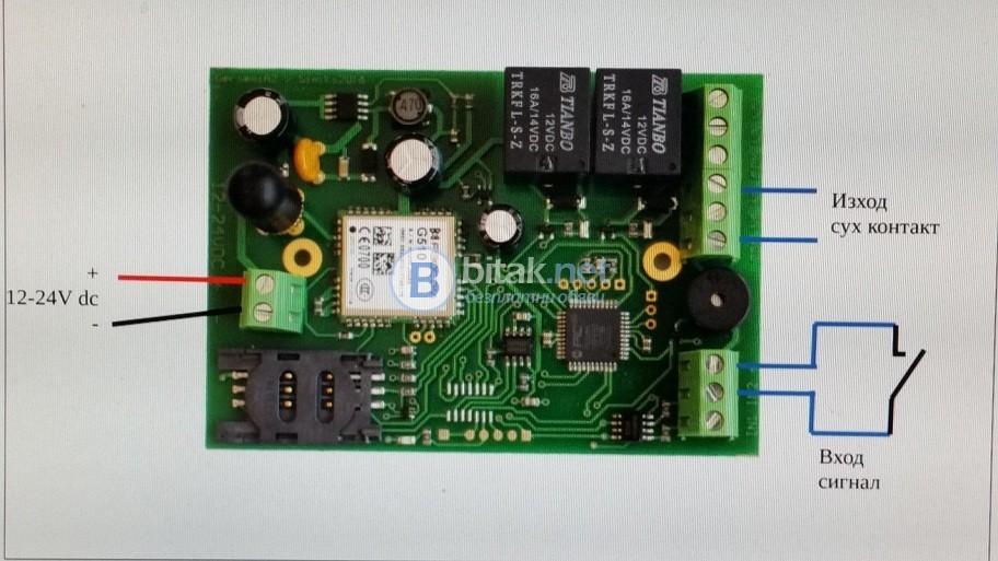 GSM Комуникатор за автоматизация на гаражна врата