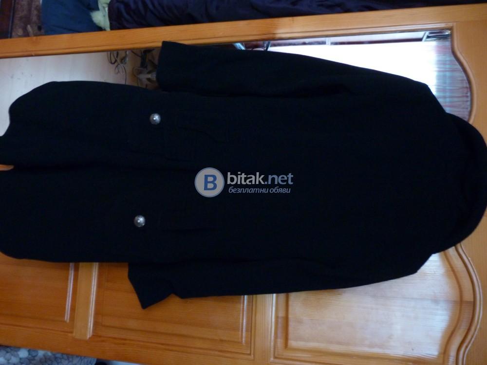 Продавам дамско палто – черно, вълнено ,
