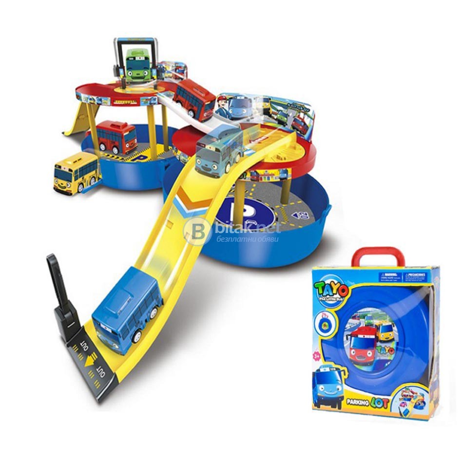 Детски паркинг писта в гума с автобуси Tayo играчка за момче