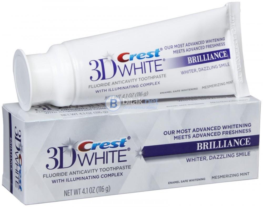 Избелваща паста за зъби Crest 3D White Brilliance