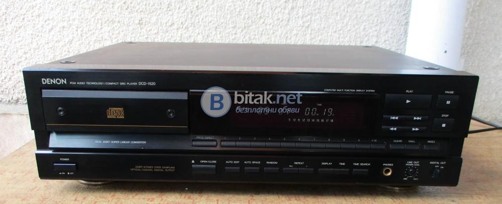 DENON DCD 1520 – Качествен плейър с дистанционно.