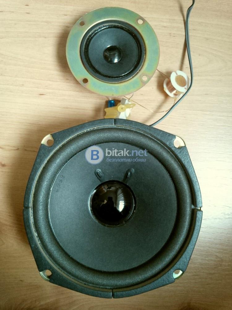 Ниско и високочестотни говорители с филтър от стара тонколона AKAI