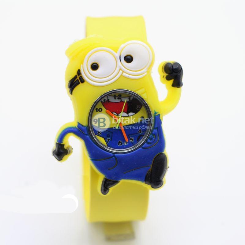 Детски силиконов часовник гривна миньони жабка панда ягода батман нов