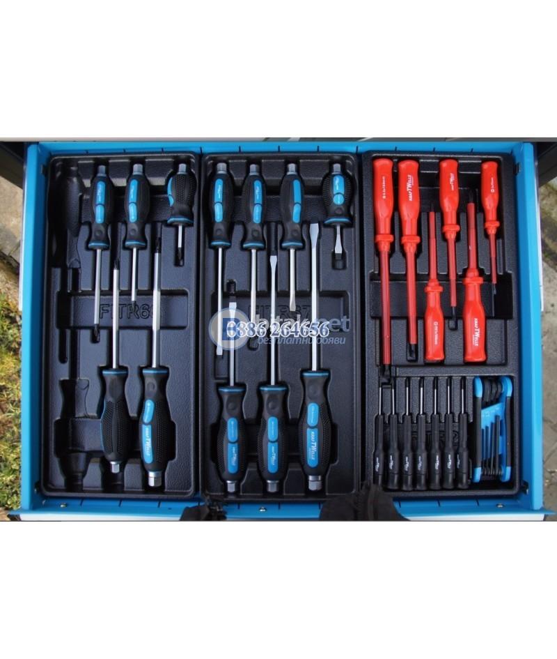 Шкаф За Инструменти 6 Етажа С Инструменти KraftWelle