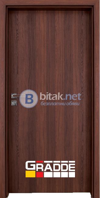 Интериорна врата Gradde Simpel, цвят Шведски дъб